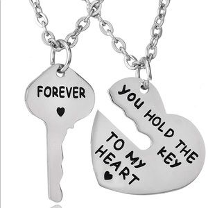 Key to My Heart Forever Matching Pendant